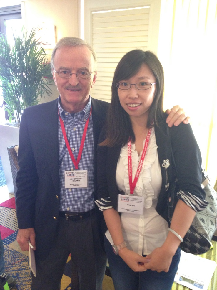 Mr. Constantine Balanis and Hao Hu at 2013 IEEE APS Conference