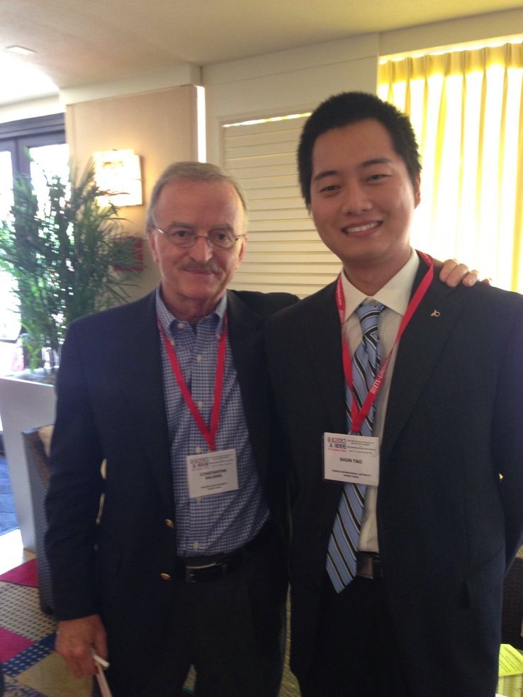 Mr. Constantine Balanis and Shun Yao at 2013 IEEE APS Conference