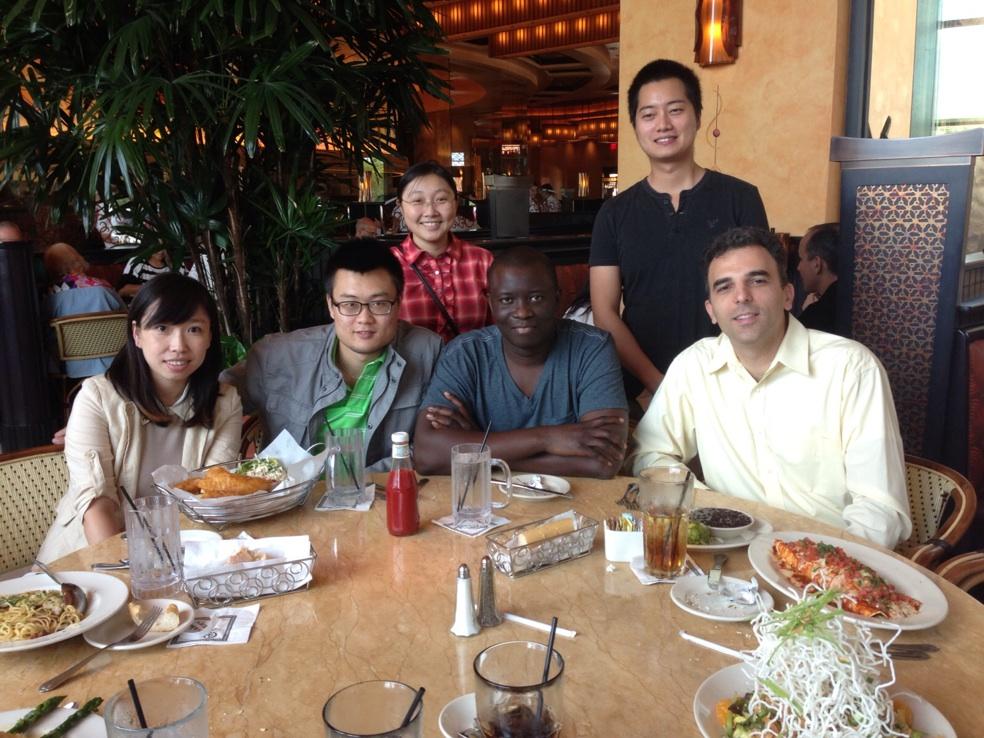 EMLab dining together