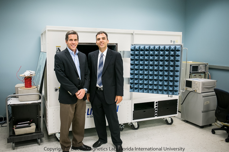 Dr. Thomas Weller and Dr. Stavros V. Georgakopoulos at EMLab