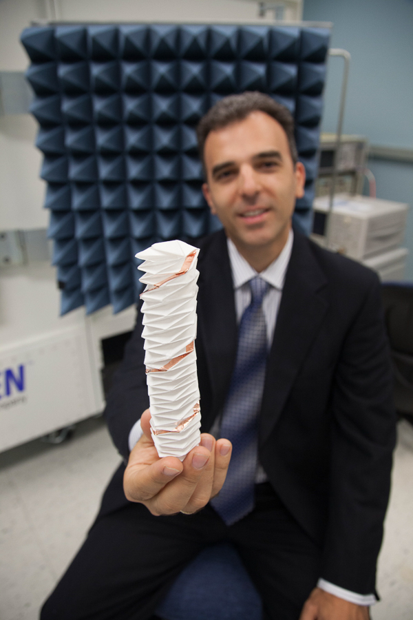 Dr. Stavros V. Georgakopoulos and origami antenna